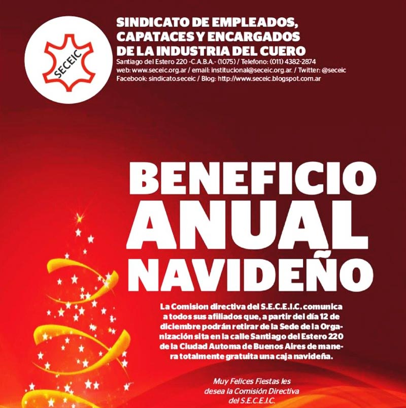 Beneficio Anual Navideño